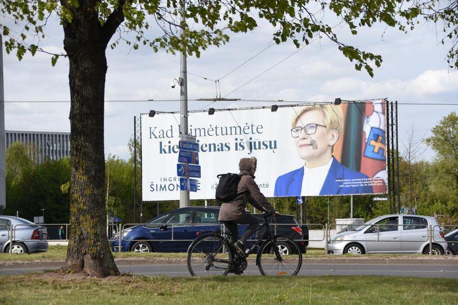 Ingrida Šimonyte pääsi Liettuan presidentinvaalien toiselle kierrokselle.