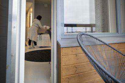 Kempeleen kunnan vuokra-asuntoyhtiössä Kempeleenkartanossa isoja asuntoja kysytään harvoin, mutta kempeleläinen Tiina toivoisi asuntojen mitoitukseen muutosta