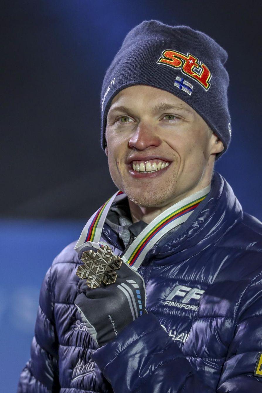 Iivo Niskanen oli Suomen joukkueen ainoa MM-mitalin saavuttanut urheilija.