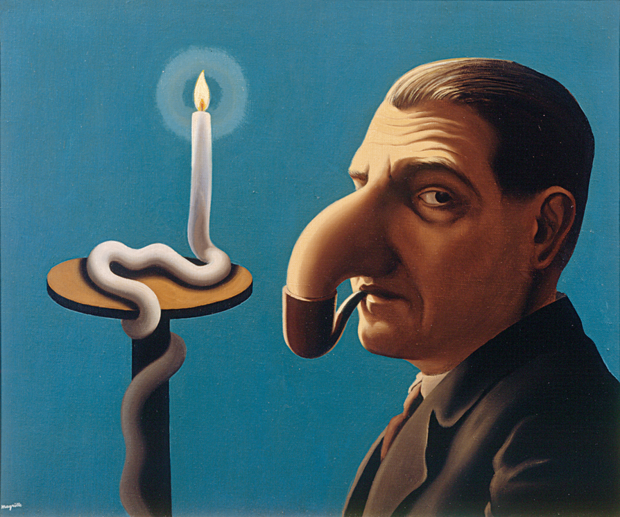 Maalaus Filosofin lamppu (1936) on lainattu belgialaisesta yksityiskokoelmasta.