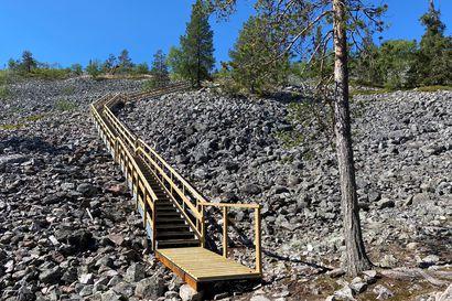 Pyhä-Luostolla pääsee jälleen tunturille Ukko-Luoston portaita pitkin – Seuraava porrastyömaa on jo alkamassa