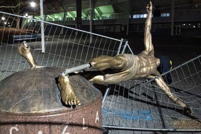 Ruotsalaislehti: Zlatanin runneltu patsas siirretään Malmön stadionin edustalta muualle