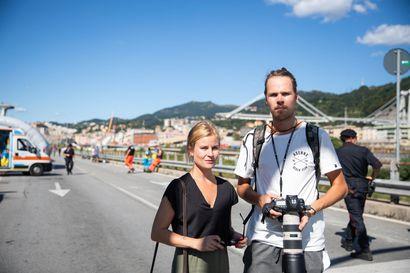 Toimittajamme kävi sairaalassa, jonne Genovan siltaturma uhreja on tuotu – ruumiita tunnistetaan, omaisille kriisiterapiaa