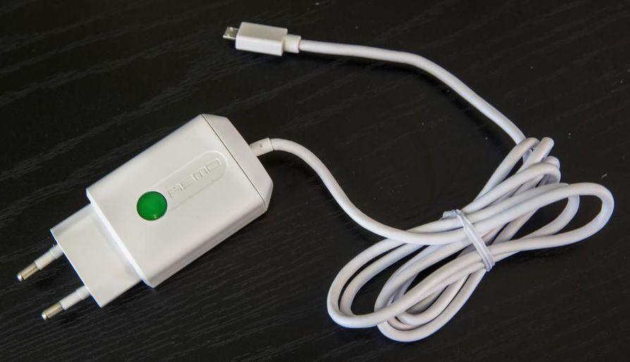 Asmo-kännykkälaturi sammuu automaattisesti, kun se ei ole enää käytössä.