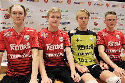 FC Kemin futsal-liigan joukkueeseen neljä nuorta pelaajaa Haukiputaan Pallosta