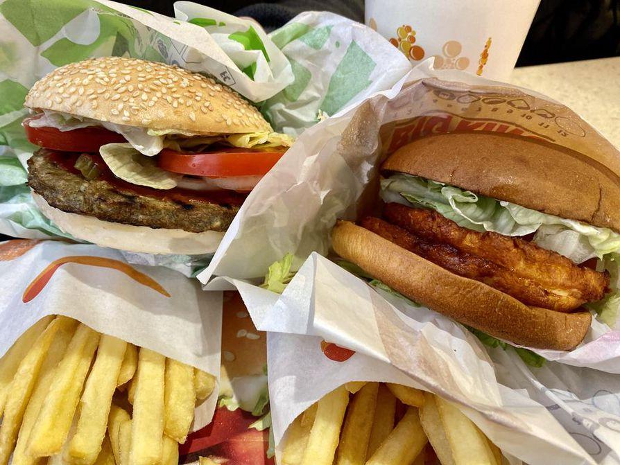 Burger Kingin Rebel Whopper ja Double Halloumi King olivat testin suosikit.