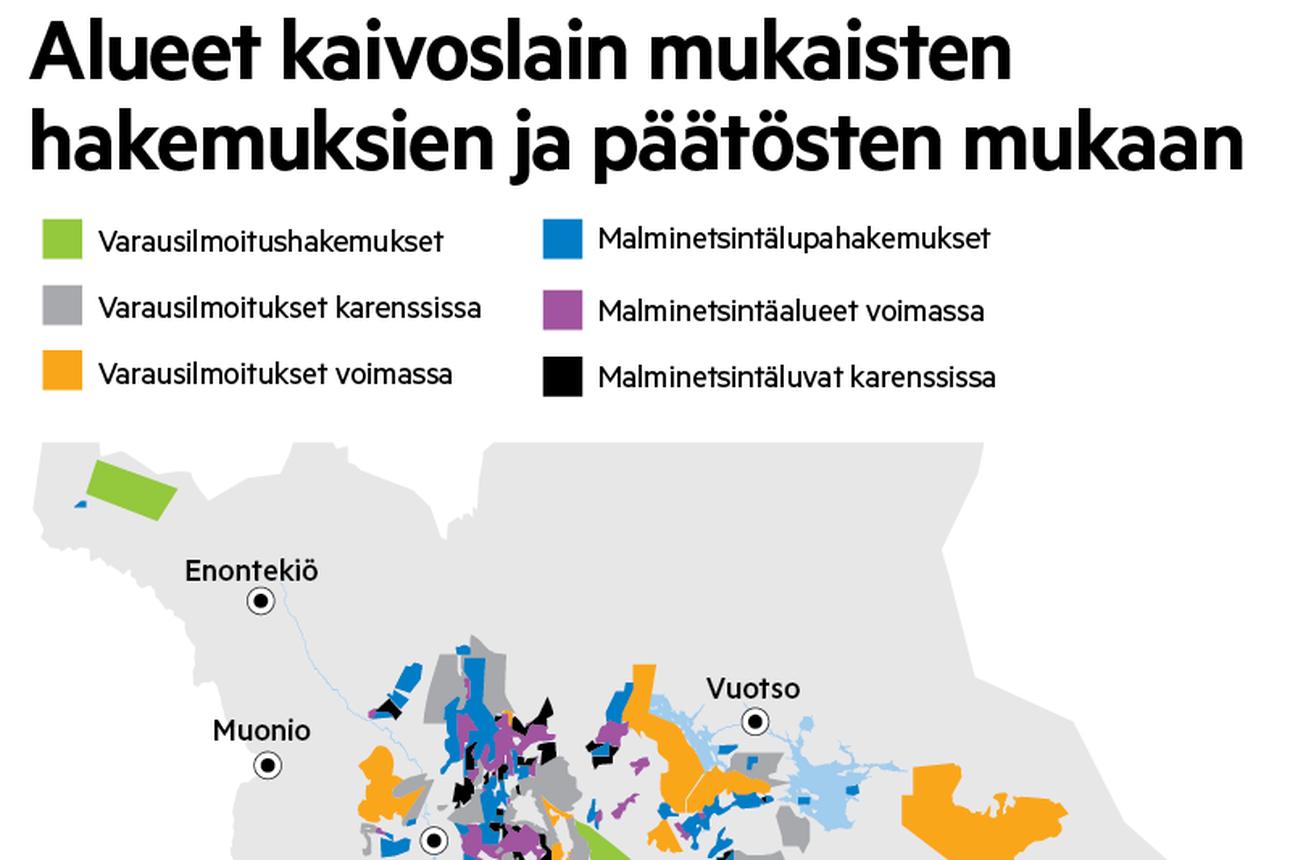 Maan kätkemät aarteet kiinnostavat – 70 prosenttia Suomessa tehtävästä malminetsinnästä kohdistuu Lappiin