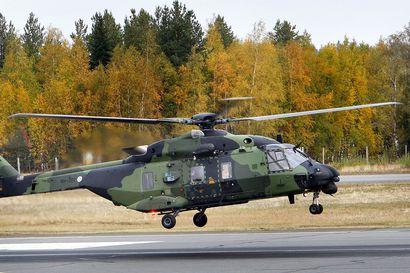 Poliisi ja puolustusvoimat harjoittelevat Oulun seudulla – mukana Utin jääkärirykmentin raskas kuljetushelikopteri