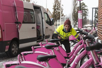Sykkelit siirtyvät talviteloille–Oulun kaupunkipyörillä ajettiin noin 26500 matkaa ensimmäisen kauden aikana