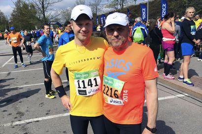 """""""Juhlitaan vain, mutta ensin käyn lenkillä"""", sanoo loppuelämän hyvinvointiin panostava Esa, joka sai isänpäivälahjaksi pojaltaan puolimaratonin"""