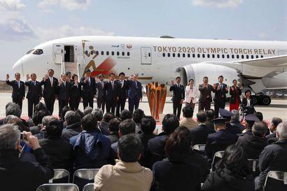 Yli 50 000 saapui katsomaan olympiasoihtua Koillis-Japanissa
