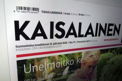 Karjalainen kunnioitti Mäkäräisen uraa: nimesi päivän lehden Kaisalaiseksi