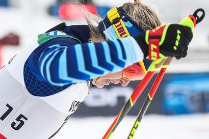 Pärmäkoski hiihtää Suomen ankkurina - Roponen taistelee kolmososuudella Ruotsin Anderssonin ja Norjan Johaugin kanssa