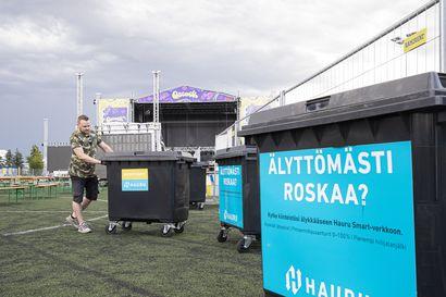 """Qstockin jätelajittelu kehittyy jäteastioilla, jotka ilmoittavat järjestäjille ollessaan täynnä – """"Moni onkin varmaan jo odottanut, milloin festivaaleilla pystyy kierrättämään paremmin"""""""