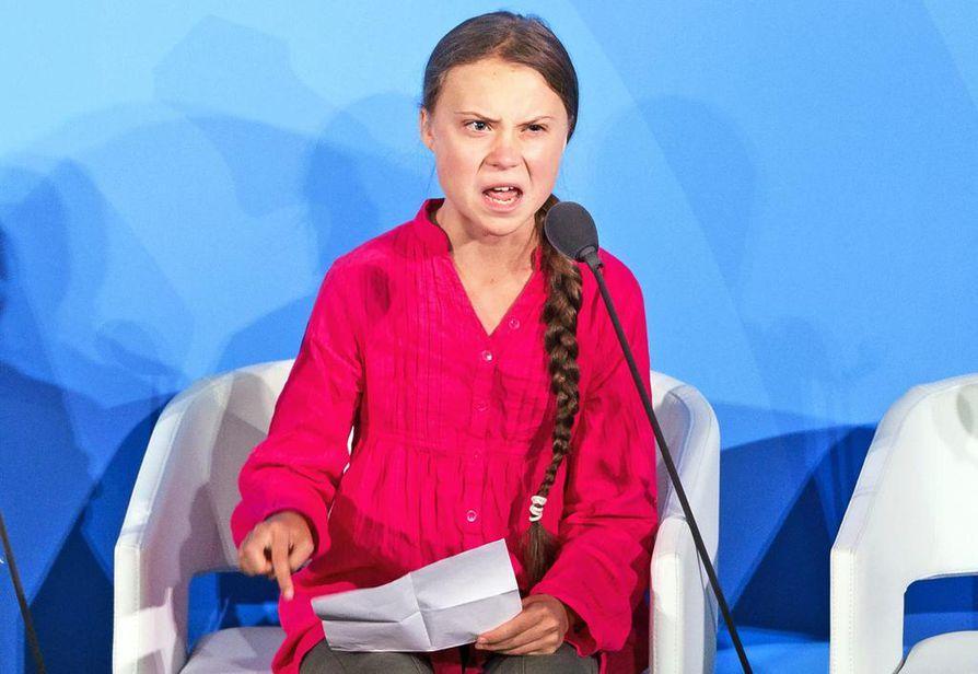 How dare you? Eli kuinka kehtaatte, Thunberg toisti tunnepitoisessa YK-puheessaan syyskuussa New Yorkissa.
