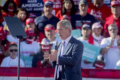 Brexit-puolue kävi tarpeettomaksi – Brittien EU-eroa väsymättömästi ajanut Nigel Farage perusti koronarajoitusten vastaisen puolueen