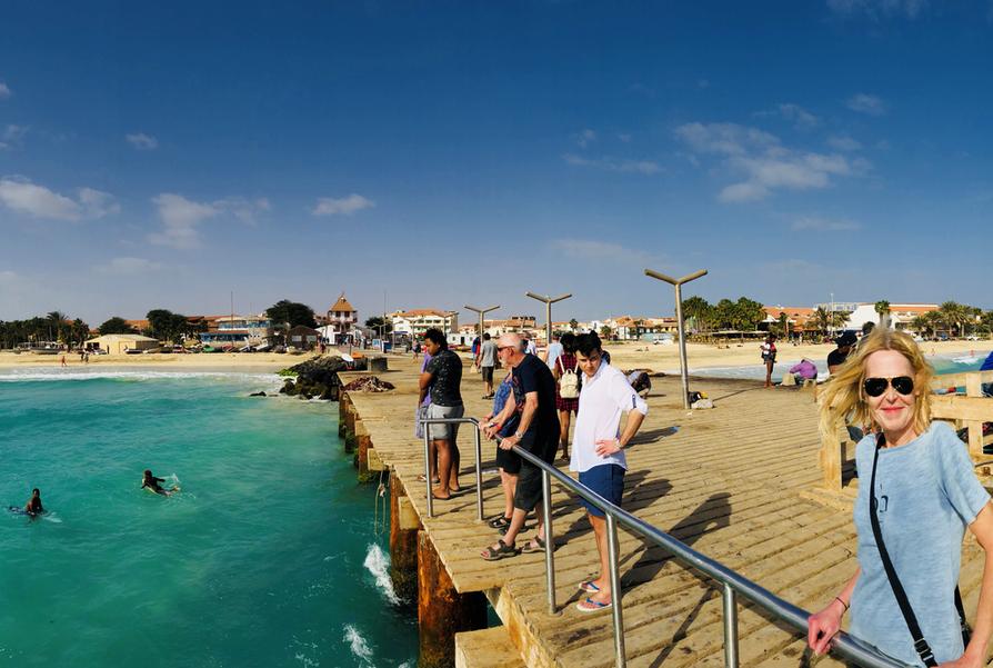 Tuulinen ja aurinkoinen Kap Verde.