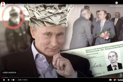Vangitun Navalnyin Putin-videolla yli sata miljoonaa katselua