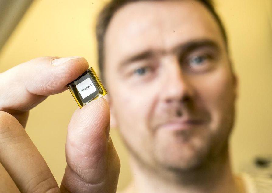 Oululainen Minima Processor Oy on onnistunut pienentämään merkittävästi mikroprosessorien virrankulutusta. Kuvassa toimitusjohtaja Toni Soini.
