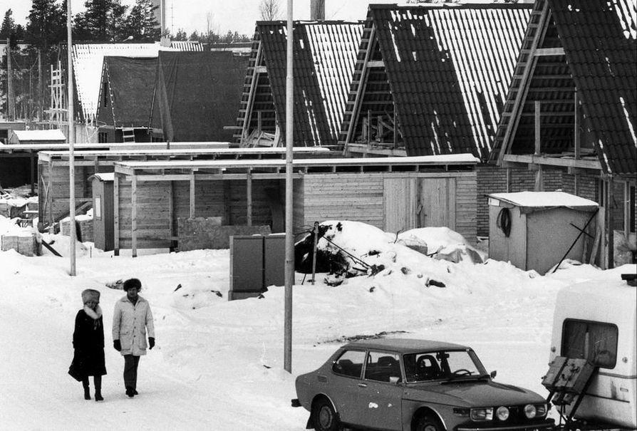 Niittyaron asuntomessualuetta rakennettiin maaliskuussa 1976.