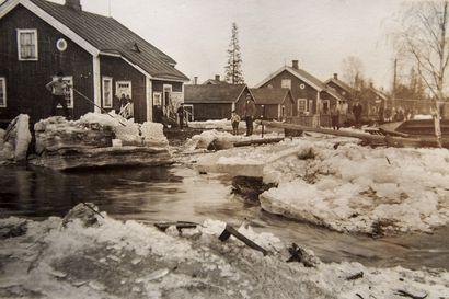 Näin Kemijoki tulvi Kemissä 1930-luvulla: Reino Saarelman valokuvissa näkyy, miten Pajusaaren asutusalue muuttui Venetsiaksi