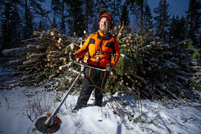 """Raahelainen Matti Nivala on raivaussahamies: """"Metsätyöt ovat mukavaa liikuntaa"""""""