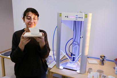 Aalto-yliopisto tutkii poronluusta tehdyn keramiikan 3D-tulostamista Sodankylässä