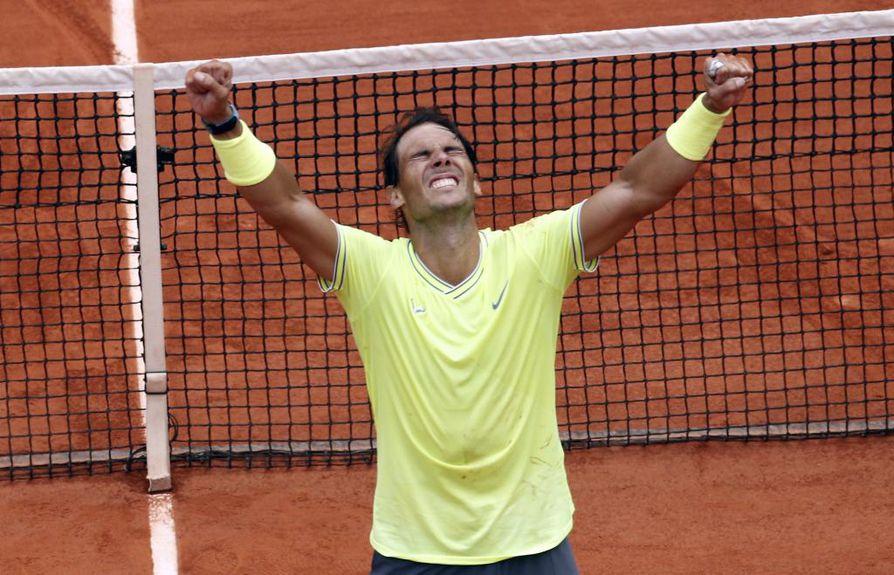 Rafael Nadal on nyt voittanut yhteensä 18 grand slam -turnausta.