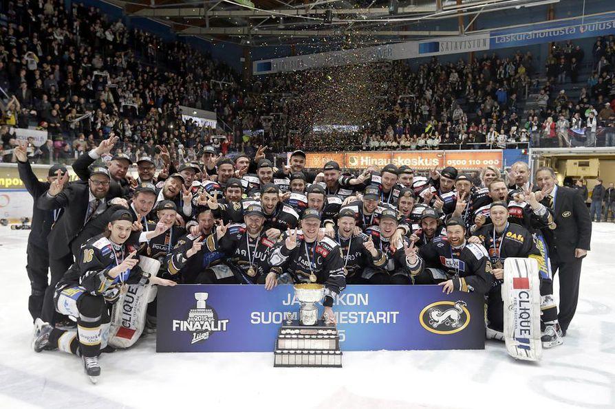 Kärpät voitti mestaruuden viimeksi kaudella 2014-2015.