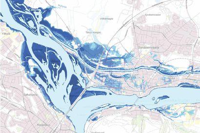 Rovaniemi suojaa Saarenkylää tilapäisillä tulvavalleilla – rakentaminen aloitetaan viikkoja ennen tulvahuippua, sillä koronaepidemian huippu saattaa tulla samaan aikaan ja harventaa tulvantorjujien rivejä