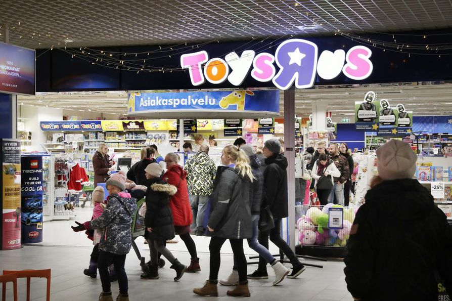 BR-Lelut- ja Toys'R'Us Pohjoismaissa omistava yhtiö Top-Toy on asetettu konkurssiin ja loppuunmyynti on käynnissä. Arkistokuva.