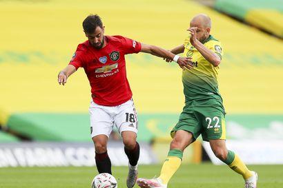 Pukin Norwich taisteli urheasti, mutta Manchester United jatkoajan loppuvaiheissa voittoon ja cupin välieriin