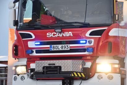 Inarissa rakennuspalo, mökki tuhoutui täysin