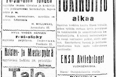 Vanha Kaleva: Ellen Mäkeliniltä kiristettiin rahaa kirjeitse, A. Gallen-Kallelan suunnittelema olympiaurheilijoiden puku on aistikas