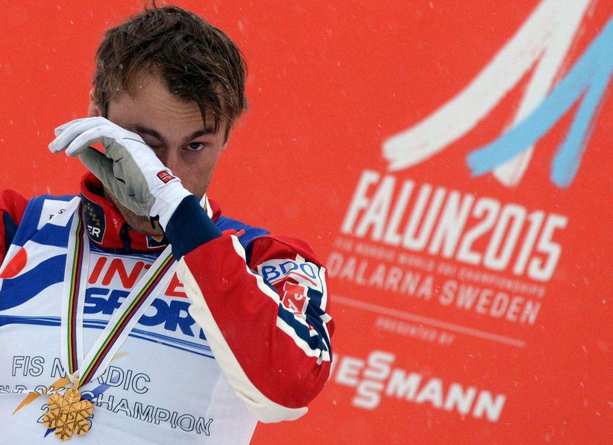 Petter Northug juhli Falunin MM-kisoissa neljää maailmanmestaruutta. Viimeisin tuli kisojen päätöspäivänä.