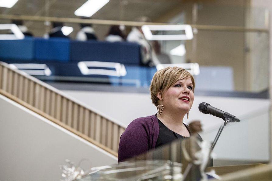 Ministeri Annika Saarikko sai kovaa kritiikkiä eduskunnan lähetekeskustelussa keskiviikkona. Arkistokuva on vuodelta 2018.
