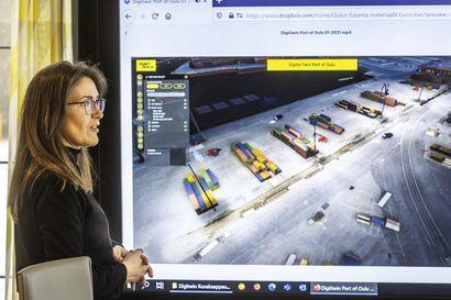 Drooniparvi tulee töihin Oulun Satamaan helpottamaan laivojen saapumista satamaan – sataman hektiset hetket otetaan haltuun digikaksosella