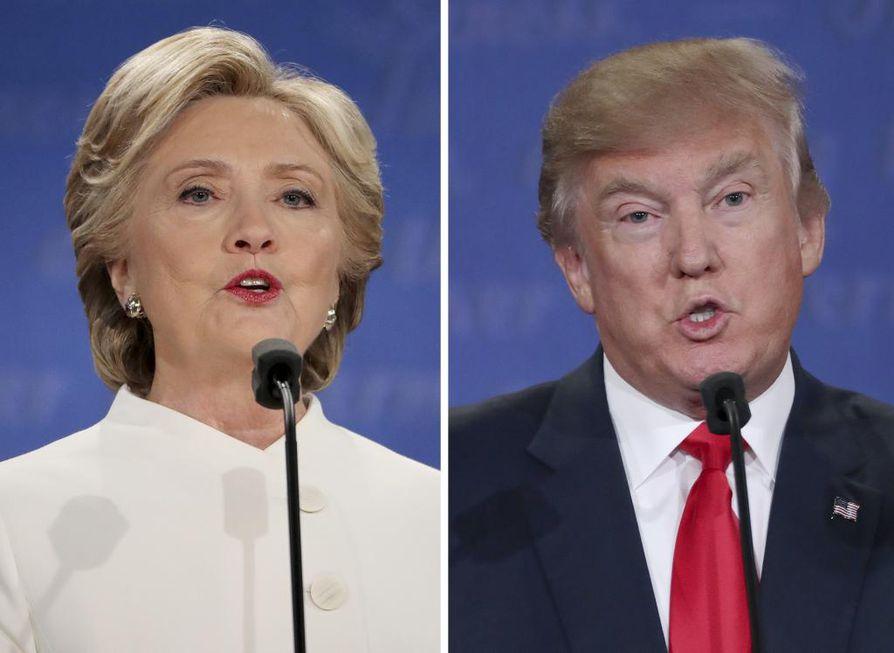 Hillary Clinton ja Donald Trump olivat vastakkain Yhdysvaltojen presidentinvaalissa. Trump tuli valituksi.