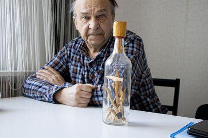 Metsurin vermeet rakennettu pulloon – myyjä ei paljastanut tekotapaa
