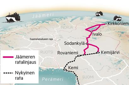 Jäämeren rata säilyy maakuntakaavassa Saamelaiskäräjien vastustuksesta huolimatta