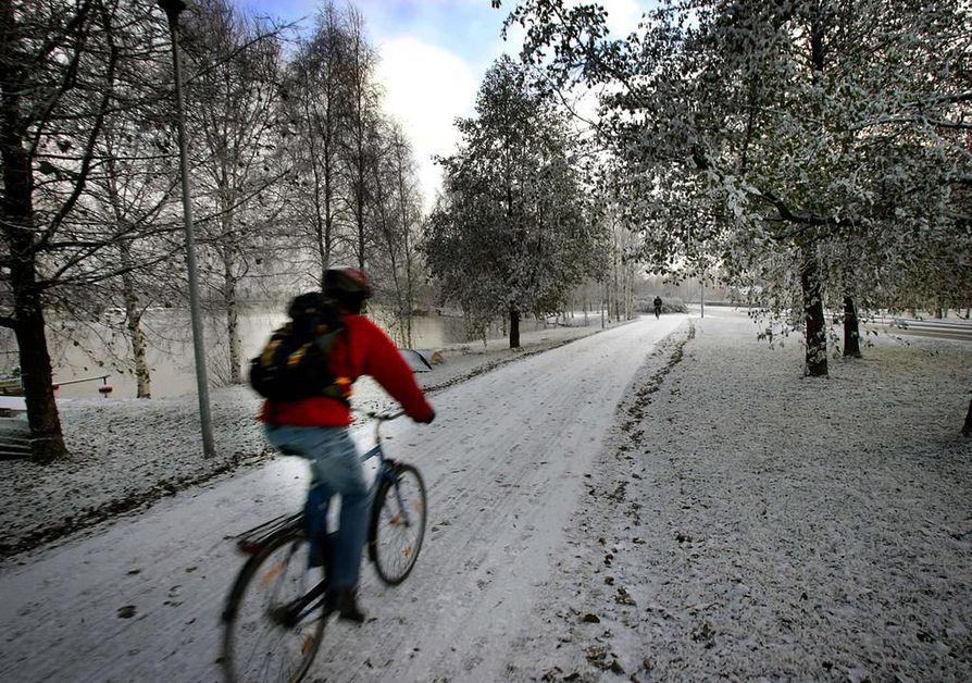 Kale! kyselee, tykkääkkö nää lumesta.