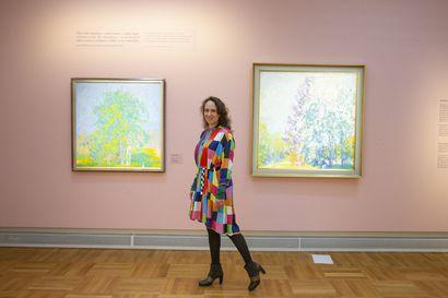 Ellen Thesleffin Aurinkosuudelma -näyttely Oulun taidemuseossa elokuun loppuun saakka – tarjolla myös maksuton virtuaalikierros, sekä lasten oma virtuaalinen satuhetki