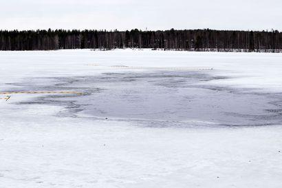 Jäällä pitää olla varovainen – teräsjää on nyt tavanomaista ohuempaa