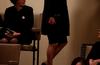 Viimeisillään raskaana oleva Jenni Haukio pukeutui mustaan leninkiin.