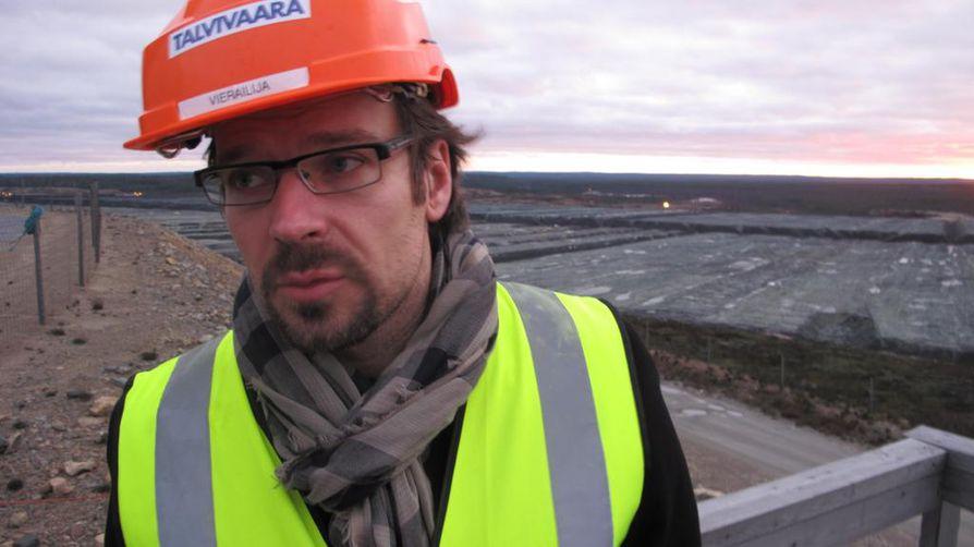 Ympäristöministeri Ville Niinistö (vihr.) vieraili Talvivaarassa viime vuoden lokakuussa.