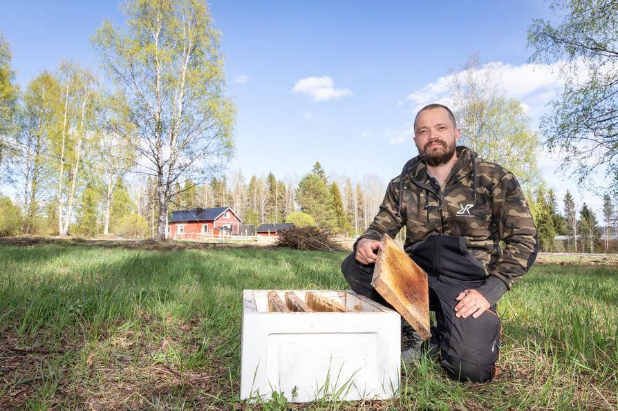 Janne Immosen tavoitteena on lisätä mehiläispesiä joka vuosi, kunnes hänellä on vähintään 25 pesää. Sen verran vielä pystyy hoitamaan päivätyön ohella.