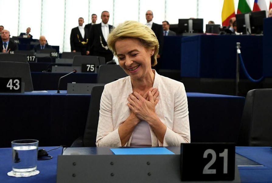 Ursula von der Leyen sai taakseen sekä EU-maiden johtajien että europarlamentaarikkojen enemmistön tuen Euroopan komission seuraavana puheenjohtajana.