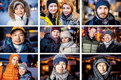 Joulun aikaan Rovaniemi on Suomen kansainvälisin kaupunki – Lapin Kansa kuvasi päivän ajan matkailijoita ja kohtasi kaikkiaan 21 eri kansallisuutta