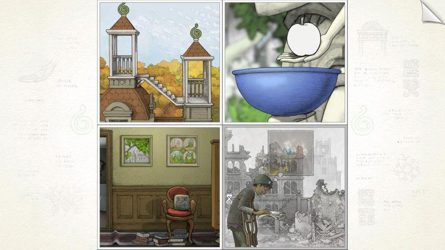 Gorogoan estetiikka on tuttua sarjakuvasta. Kuvakaappaus pelistä.