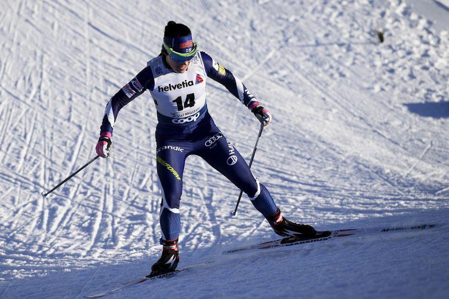 Krista Pärmäkoski nousi sunnuntaina ensimmäisen kerran palkintopallille tämän kauden Tour de Skillä.